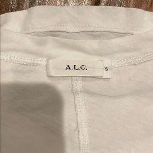 ALC (not so basic) white v neck with v back